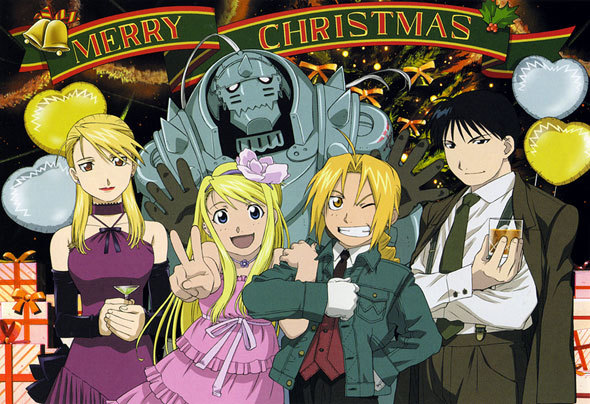 Riza, Winry, Ed, Al, and Roy - Fullmetal Alchemist