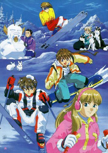 Wufei, Trowa, Quatre, Duo, Heero, and Relena - Gundam Wing