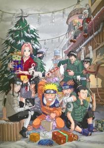 Tsunade, Jiraiya, Sakura, Kakashi, Gai, Lee, Neji, Akamaru, Kiba, Naruto, Choji, and Shikamaru - Naruto