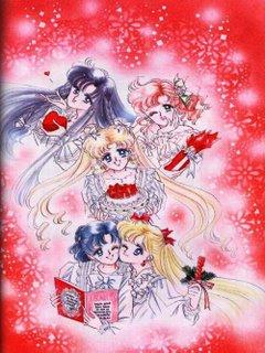 Rei, Makoto, Usagi, Ami, and Minako - Sailor Moon