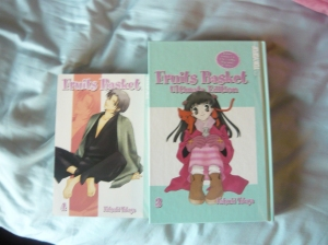Fruits Basket volume 4 and Fruits Basket Ultimate Edition volume 3